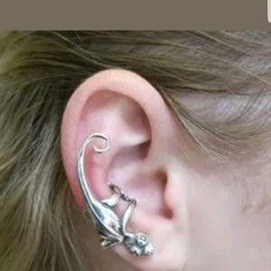 cute gecko wrap / ear cuff gold or silver